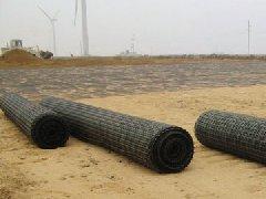 塑料土工格栅铺设